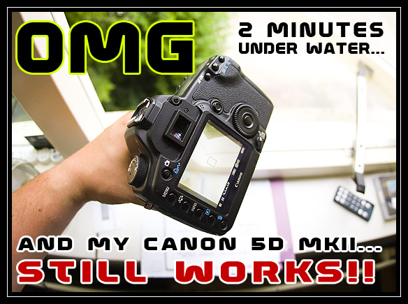Canon 5D MKII under water soaked body