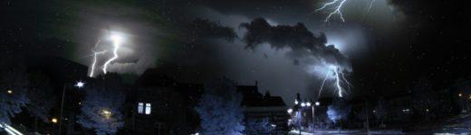 Lightning in Arnhem; an infrared love story.