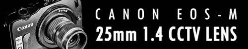 25mm f1.4 CCTV Lens, Cmount en macro ring lens review