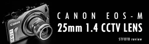 25mm f1.4 CCTV Lens, Cmount en macro ring lens review